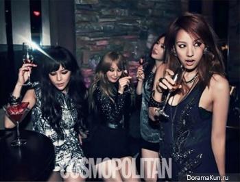 Park Si Yeon, Lee Hyori, MayBee, Ahn Hye Kyung, 2AM для Cosmopolitan 2012