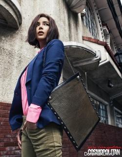 Park Si Yeon для Cosmopolitan February 2013 Extra