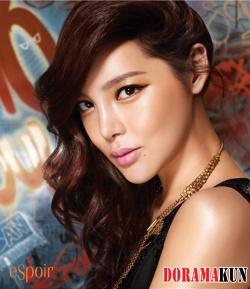 Park Si Yeon для Espoir 2012 Ad Campaign