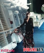 Park Si Yeon для InStyle Korea August 2012