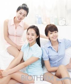 SNSD's Tiffany, Yuri, Sooyoung для Biotherm