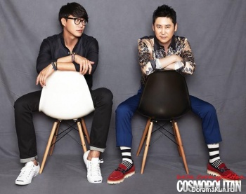 Sung Si Kyung, Shin Dong Yup для Cosmopolitan Korea September 2013