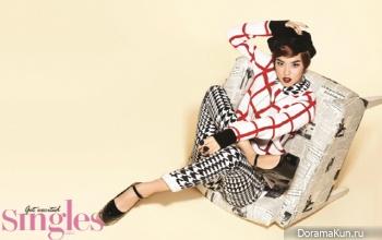 Woo Ri для Singles October 2012