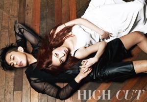 Yoo Ah In & HyunA для High Cut Vol. 74