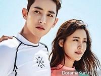 Lee Soo Hyuk, Claudia Kim для Grazia May 2016