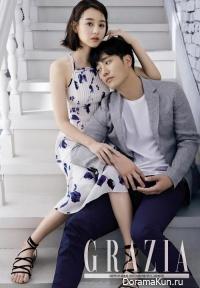 Jin Goo, Kim Ji Won для Grazia April 2016