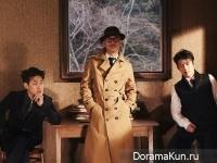Kang Ha Neul, Park Jung Min, Lee Joon Ik для Elle February 2016