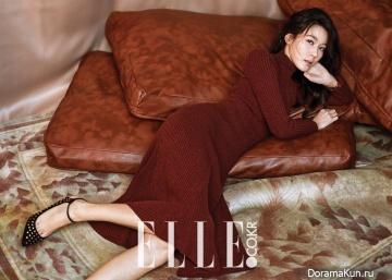 Kim Ha Neul для Elle January 2016