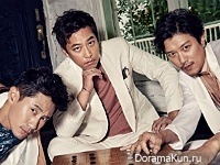 Oh Man Suk, Shin Ha Kyun, Park Hee Soon для Cosmopolitan September 2016