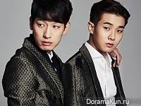Yoon Park, Choi Woo Sik для The Star January 2016