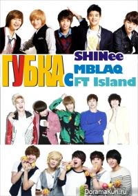 Губка с SHINee, MBLAQ, FT Island / Sponge - SHINee, MBLAQ, FT Island