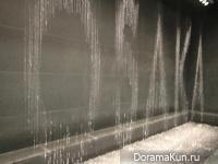 Япония. Фонтан-часы в Осаке