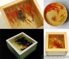 Нарисованные трехмерные рыбки в арт-проекте Goldfish Salvation