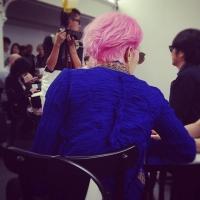 G-Dragon посетил модный показ Джунья Ватанабе в Париже