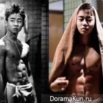 У молодого актера Пак Чжи Бина 8 кубиков?