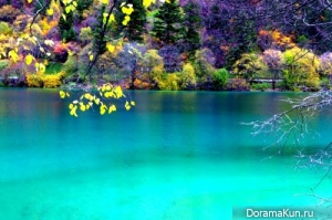 Бирюзовое озеро. Национальный парк Цзючжайгоу