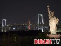 Япония. Статуи свободы на Одайбе.