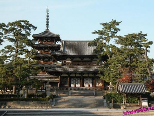 Япония. Храм Хорю-дзи.