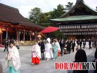 Япония. Храм Ясака дзиндзя.