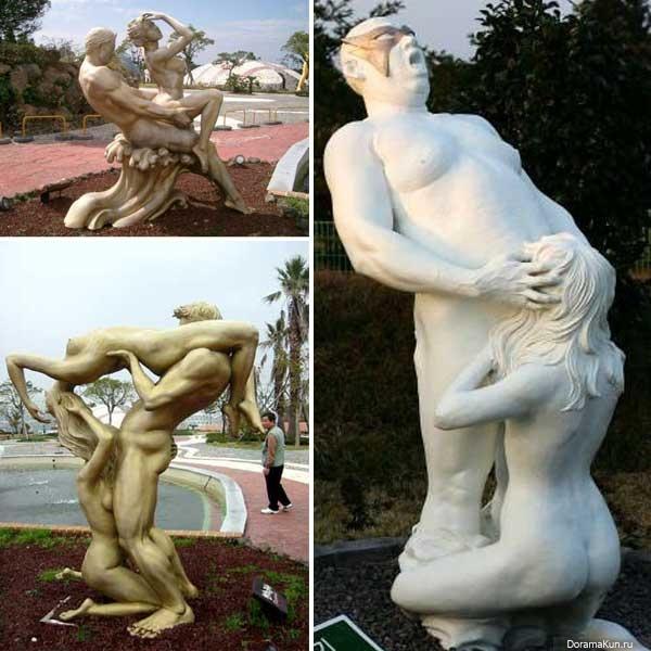 Корейский остров сексуальных скульптур