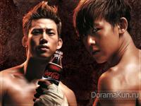 Nichkhun и Taecyeon (2PM) для Coca Cola