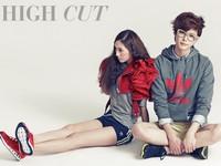 Lee Jong Suk and f(x)'s Krystal для High Cut Vol. 75