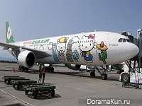 Eva Air и самолеты в стили Hello Kitty (Тайвань)