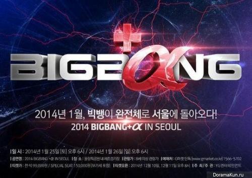 Big Bang проведут концерты в Сеуле в январе 2014 года