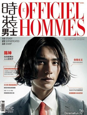 Chen Kun для L'OFFICIEL HOMMES April 2014