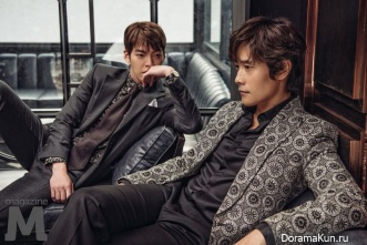 Kim Woo Bin и Lee Byung Hun для M Magazine Vol. 193 Extra Decemer 2016
