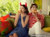 Kim Woo Bin и Go Ah Ra для Domino's Pizza