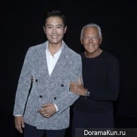 Lee Byung Hun and Giorgio Armani