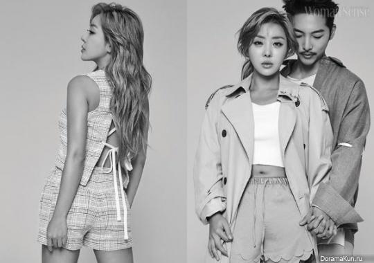 Brown Eyed Girls (Narsha), Hwang Tae Kyung для Woman Sense August 2017