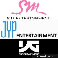 SM Entertainment, JYP Entertainment, YG Entertainment