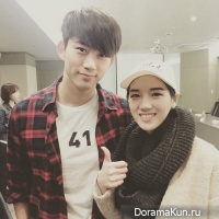 Taecyeon and Song Ha Yoon