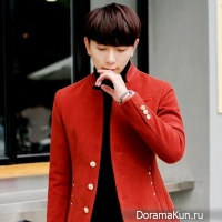 the man in a red coat