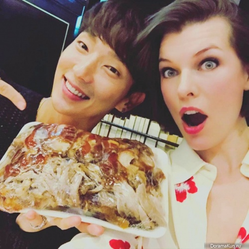 Lee Jun Ki and Milla Jovovich