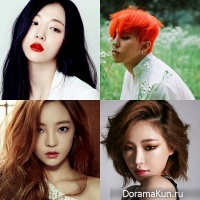 G-Dragon, Go Hara, Solli, Gain