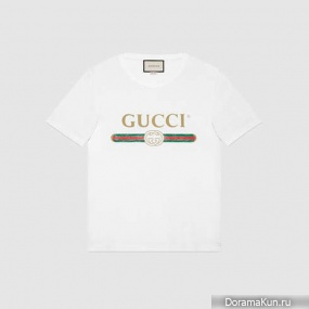 Gucci's white washed cotton shirt