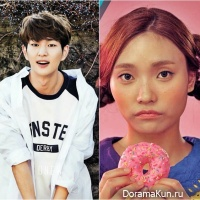 Onew and Lee Jin Ah