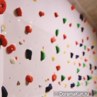 wall for rock-climbing