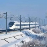 the high-speed train in China