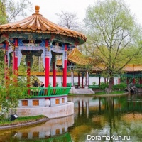 Chinese garden in Moscow