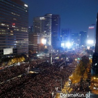 protest rally in Seoul