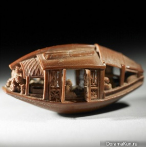 China . Boat from olive pits