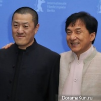Jackie Chan and Sheng Ding
