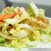 The Chinese cabbage salad Thai