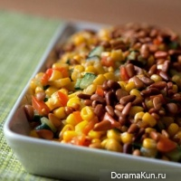 Warm salad of corn