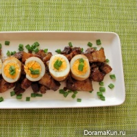 Pork belly with egg