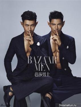Jacky Heung, Huang Xiaoming для Harper's Bazaar June 2016